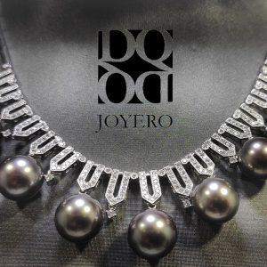 Gargantilla diamantes y perlas Thayti